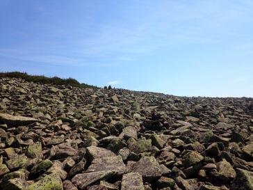 Une mer de roches, à traverser à l'aller et au retour...
