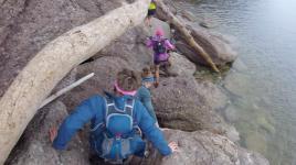 Pas évident de se frayer un chemin à travers les rochers!